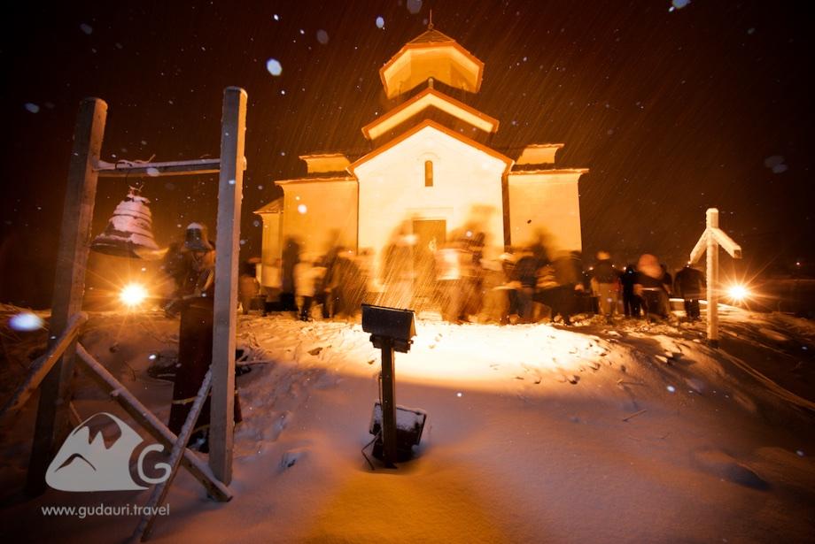 Празднование Пасхи в горах Грузии