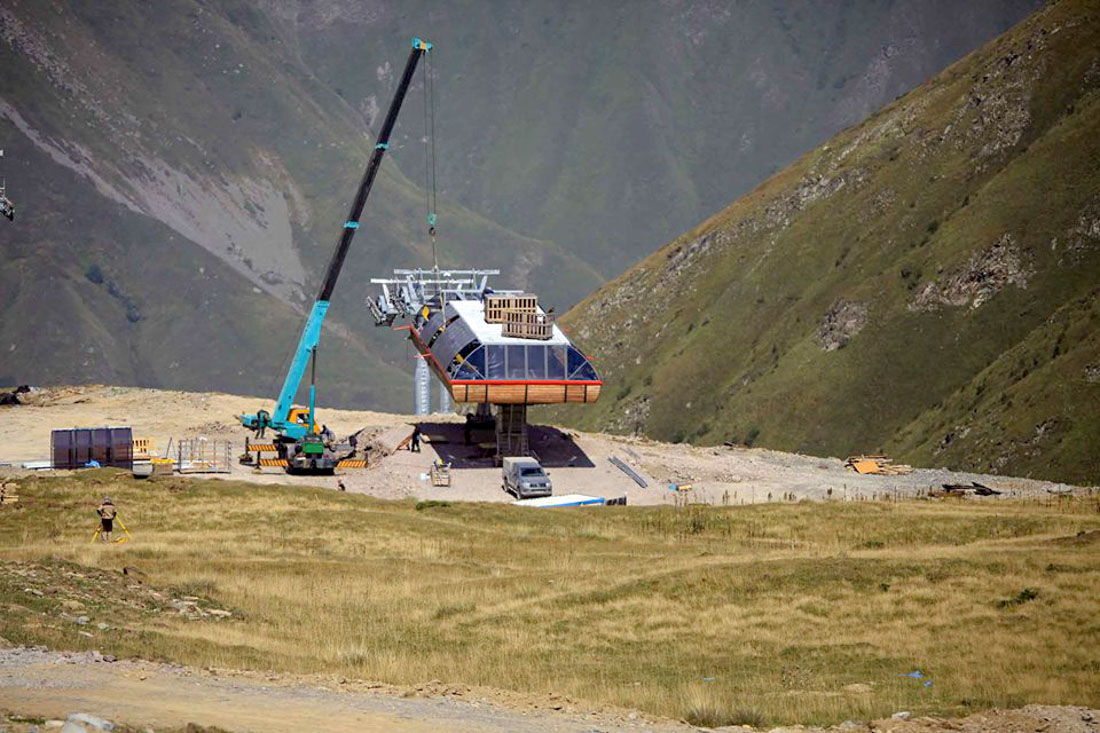 Expansion of the ski area in the resort Gudauri, Georgia